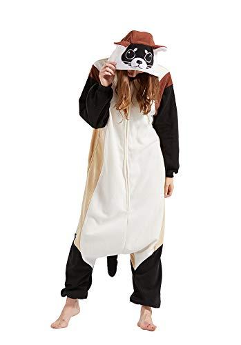 Pijama Animal Entero Unisex para Adultos con Capucha Cosplay Pyjamas Ropa de Dormir Traje de Disfraz para Festival de Carnaval Halloween Navidad Visón de Patas Negras XL(178-187CM)
