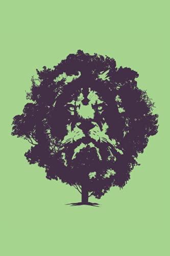 Leone Tree.: Notebook |. Foderato |. 120 pagine |. Dimensioni 6 x 9 pollici (15, 24 x 22, 86 cm) |Notebook Journal Blocco note |Taccuino dell'albero (Italian Edition)