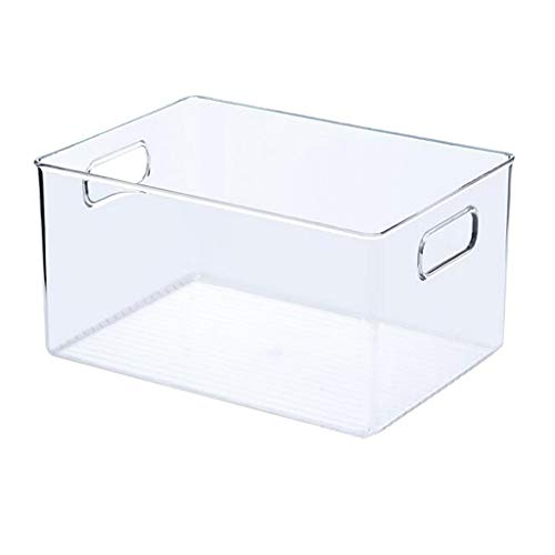 Muium(TM) - Caja de almacenaje transparente para cocina, encimeras, almacenes, frigoríficos, 15 x 28,5 x 20,5 cm