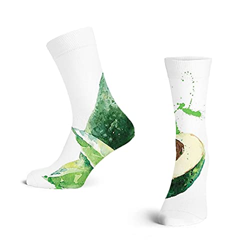 Lddyzcck Calcetines de moda Compression Socks Women,Aquarelle Autumn Theme with Pastel Colors for Exotic Food and Drops Image,low,Colorful,Cute,Funny,Novelty,Graduated,Sports Stockings 50cm