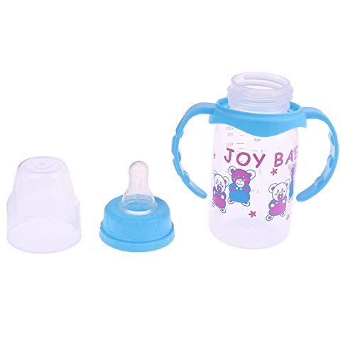siqiwl Botella de bebé 125 ml Botella de bebé Niños Copa Silicona Sippy Niños Capacitación Tazas Lindo Bebé Agua Potable Paja Mango Alimentación