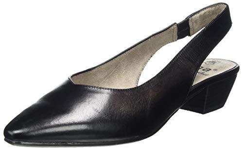 Jana 100% comfort Damen 8-8-29500-24 Slingback Pumps, Schwarz (Black Nappa 022), 38 EU