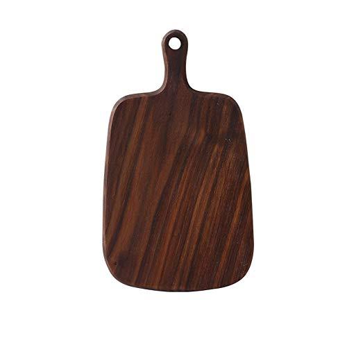 Plato de filete de madera maciza, tablero de filete gourmet Plato multiuso...