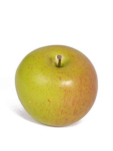 PARC Network - Künstlicher Apfel, grün-rot, 8cm, Ø7cm - Apfel Deko - Apfel Künstlich - Apfel Plastik - Apfeldeko - Plastik Apfel - Kunstobst