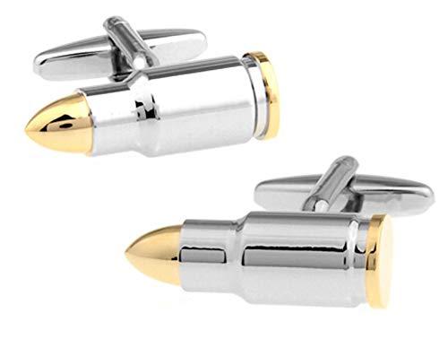 Multifunktion Männer Designer Manschettenknöpfe Gold Bullet Design Roman Gun Design Manschettenknöpfe Krieg Army Armee Series Perfektes Zubehör (Metal Color : Bullet)
