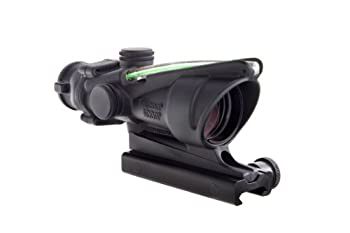 Trijicon 4x32 ACOG Riflescope with Green Dual Illuminated Chevron Reticle and TA51 Mount