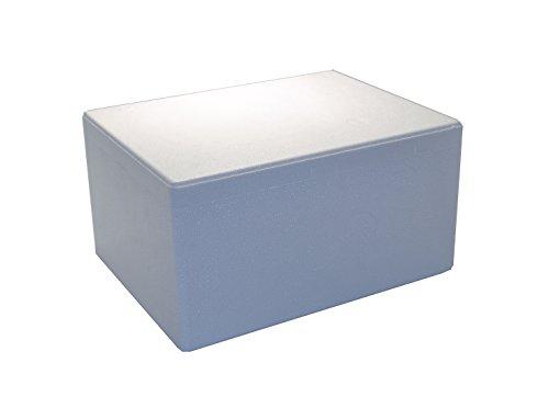 Tropic-Shop Styroporkisten | Styroporbox | Thermobox 40x30x21cm - Warmhaltebox - Kühlbox für Getränke/Lebendsmittel