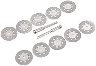 NLLeZ 10pcs 22 mm Mini Circular Hoja de Sierra de Disco de la Rueda de Corte de Madera con 37mm Herramienta oscilante Mandril for aminar plástico de Madera de Aluminio