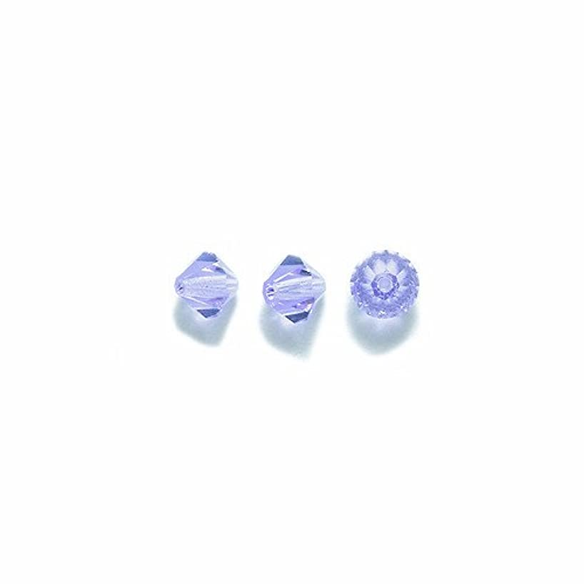 Preciosa 144-Piece Czech Crystal Bicone Beads Set, 5 by 5mm, Violet