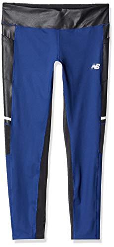 New Balance Impact Running Pantalones Ajustados para Mujer, Mujer, Pantalones, WP83228, Techtonic Azul, S