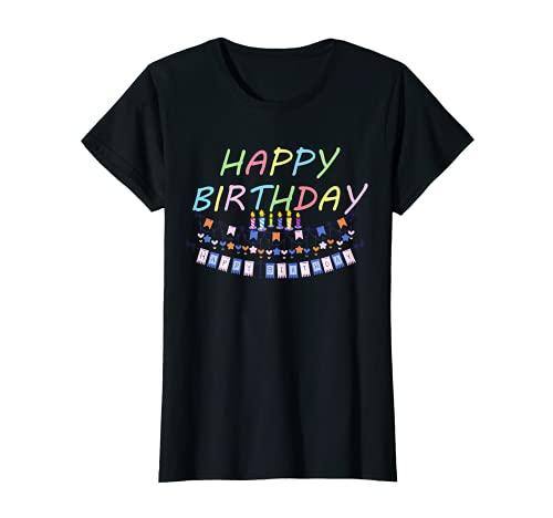 Mujer Cumpleaños Shirt Feliz cumpleaños a todas las mujeres Camiseta