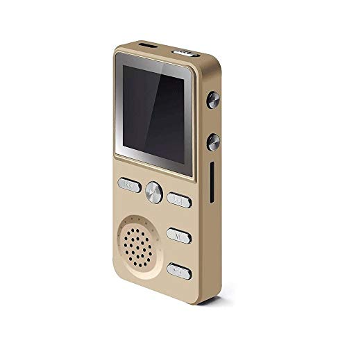 Z-Color 16GB Reproductor de música MP3 de Audio portátil sin pérdida de Sonido MP3 Radio FM/Imagen/E-Libro, Tarjeta de la Ayuda 32GB TF (Color : Gold)