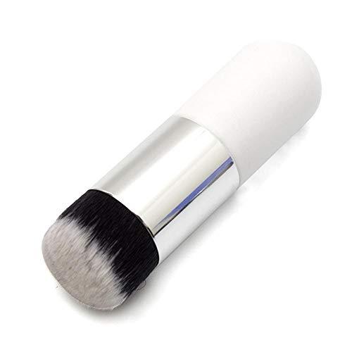 Sets De Pinceaux De Maquillage Pinceaux De Maquillage Pinceaux De Maquillage Professionnel Chubby Pier Foundation Brush Flat Concealer Cream Cosmetic Portable Makeup Tool-02 Blanc Argent