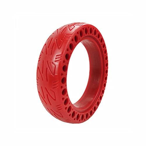 HGTRH Pack neumático Macizo 8.5 Pulgadas Rojo para Patinete eléctrico Rueda Repuesto...