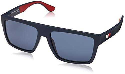 Tommy Hilfiger TH 1605/s Occhiali da Sole, Matte Blue Blue, 56 Uomo