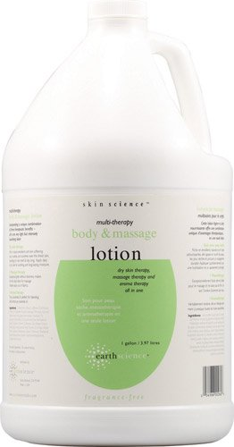 Earth Science Multi Therapy Body Massage Lotion Fragrance Free -- 1 Gallon - 2pc
