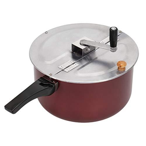 YWSZJ Máquina para Hacer Palomitas de maíz Manual para Cocina de Gas, Estufa electromagnética, Comercial, doméstico