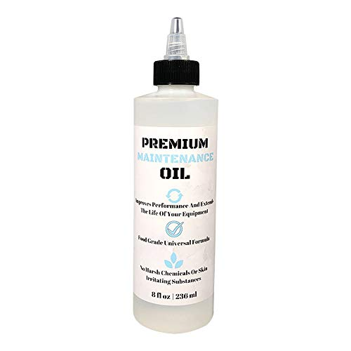 (8oz) Premium Lubricating White Oil for Hair Clippers Electric Shaver Oil Lubricant, Hair Clipper Blade Oil, Hair Clipper Oil, Beard Trimmer Oil, and Straight Razor Lubricant with Anti-Rust Protection