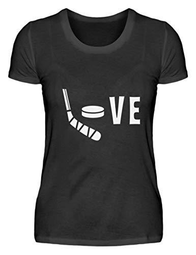 Chorchester Love für Hockey und Eishockey-Spieler - Damenshirt -S-Schwarz