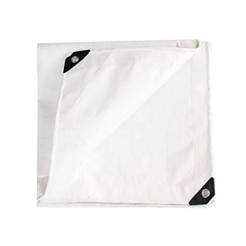 XBSXP Lona Blanca de Alta Resistencia, Impermeable, Plegable, de Lona de PE con Ojales, Tela Impermeable Resistente al desgarro para Muebles de jardín, trampolín de Cabina (tamaño: 5x10m