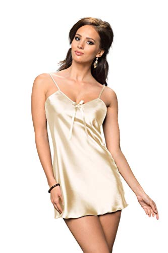 Irall Aria Cream Satin Nightdress Large