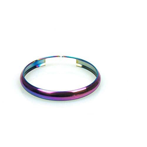 Oldbones Stainless Steel Smart Key Fob Ring Rim Trim Cover Replacement For Mini Cooper chrome multicolor