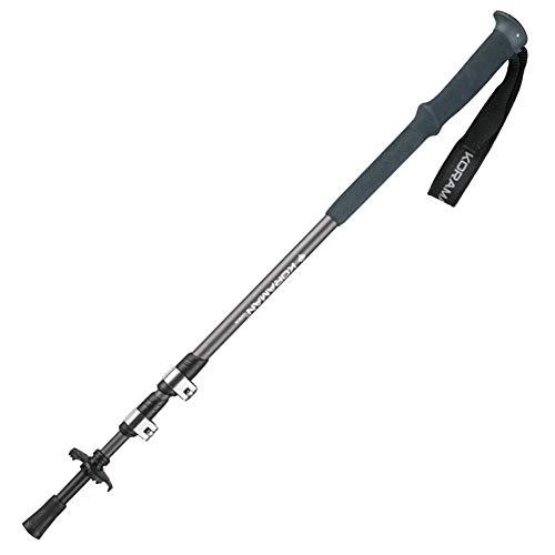 MOXIN Pliable Trekking Pole d'escalade bâton avec poignée en Mousse EVA, bâtons de randonnée Ultra-légers en Alliage de Carbone pour Hommes et Femmes,Black