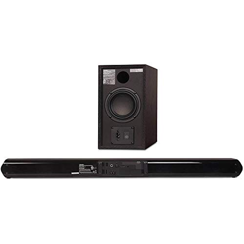 Toshiba TY-WSB600 2.1 Channel Bluetooth Soundbar TV Speaker: Sound Bar with Wireless Subwoofer, HDMI Arc with CEC, Optical, Coaxial, Aux and USB Inputs & Remote Control