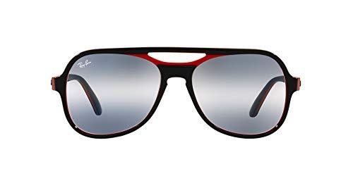 Ray-Ban 0RB4357 Gafas, BLACK RED BLUE, 58 Unisex Adulto