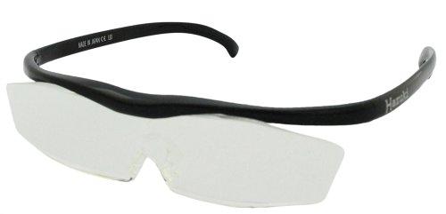 Hazuki 眼鏡式ルーペ 黒 クリアルーペ 1.6倍 普通サイズレンズ ハズキルーペ コンパクト(旧モデル)