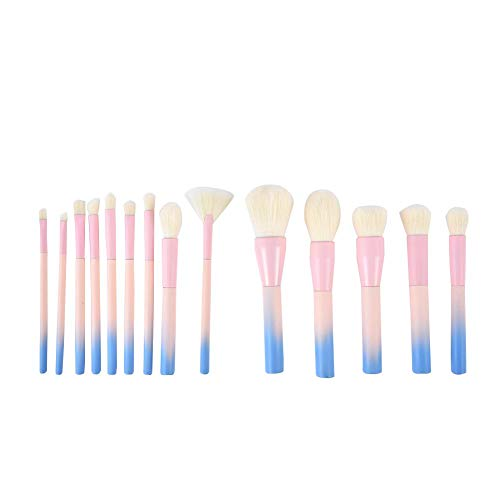EZIZBEnsemble de pinceaux de maquillage 14 Pcs Brushes Foundation Poudre de fard à paupières Kits Ensemble de pinceaux de maquillage 14 Piece Rainbow Brushes Foundation Poudre de fard à paupières Kits
