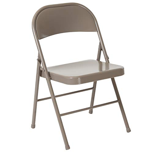 Flash Furniture HERCULES Series Double Braced Gray Metal Folding Chair