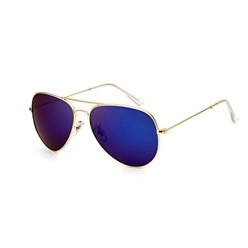Gafas de sol Glasses Gafas de sol polarizadas metálicas Gafas de sol Oval Classic Gafas de sol polarizadas para hombres y mujeres Gafas de sol de viaje al aire libre Gold Frame Polarizadores azules ma