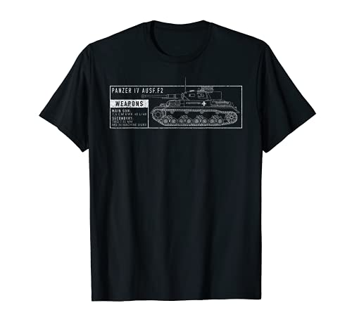 Tanque IV 4 Ausf F2 WW2 Tanks Blueprint Vintage Camiseta