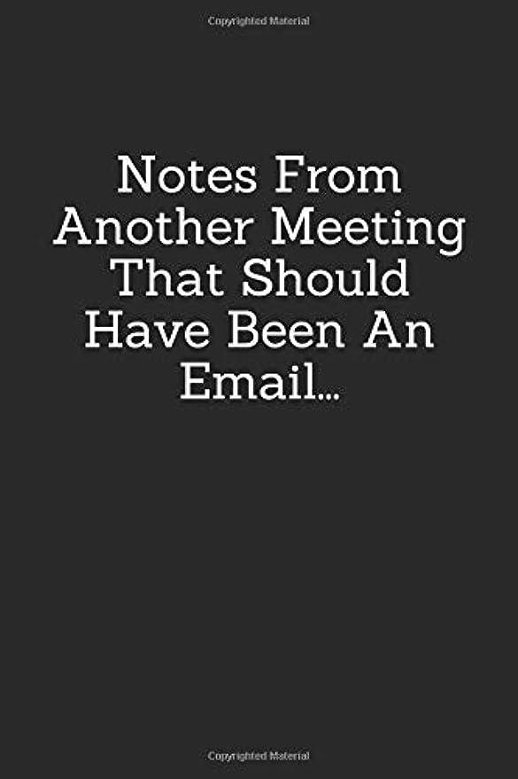 海外ナプキンフォーカスNotes From Another Meeting That Should Have Been An Email: Blank Lined Journal Coworker Notebook ((Funny Office Journals))