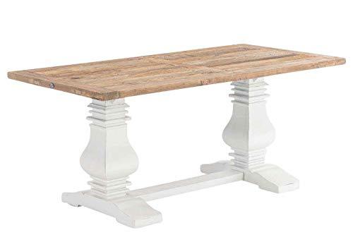 CLP Esszimmertisch Severus aus Holz | Handgefertigter Holztisch im Landhausstil Größen erhältlich Natura, 220 x 100 x 78 cm