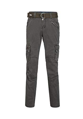 Timezone Herren Cargo Hose BenitoTZ pants incl. belt, Gr. 54 (Herstellergröße: 36/32), Grau (blue graphite 9033)
