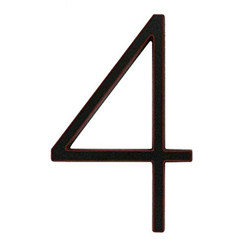 WENYOG House Number Plaques 5 in. Modern House Number Hotel Home Door Number Outdoor Address Plaque Zinc Alloy Number For House Address Sign #0-9 10 (Color : VENETIAN BRONZE 4)