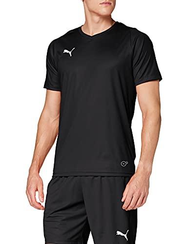 Puma Liga Jersey Core, Maglia Calcio Uomo, Nero Black White, M