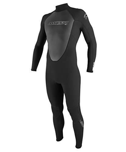 O'Neill Mens 3/2mm Reactor Back Zip Full Wetsuit, Black, X-Large