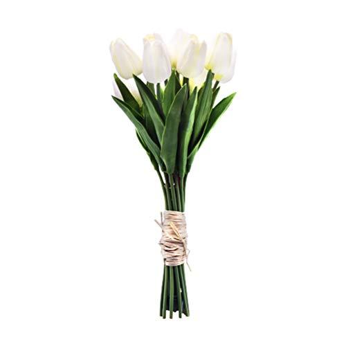 WINBST Sztuczne tulipany ze światłem LED, 12 sztuk sztucznych kwiatów, światło otoczenia do dekoracji wnętrz, lampa nocna, pomysł na prezent, aranżacje ślubne, ustawienia czasowe na baterie