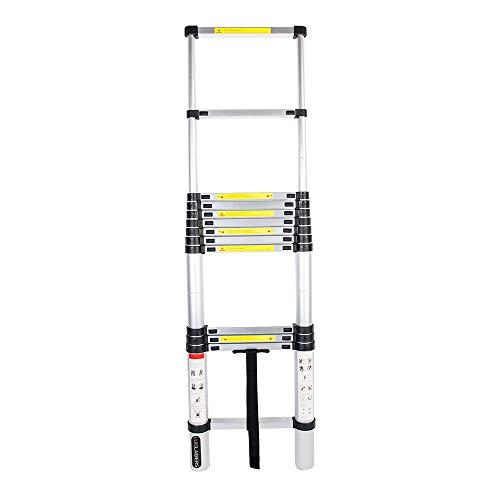 Échelle Télescopique, Multi-Fonction Extensible Aluminium Escabeau, Charge Maximale: 150 kg (3.8 m)