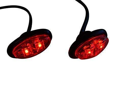 Pequeño LED Rojo Marcador Luces para Motocicleta Scooter Coches Atv