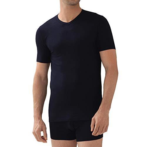 zimmerli Pureness Shirt Short Sleeve V-Neck (XXL) I Designer Herren Unterwäsche aus MicroModal I T-Shirt aus feinster Handarbeit I Unterhemd aus superleichtem merzerisierten Zwirn I 7001346 Dunkelblau