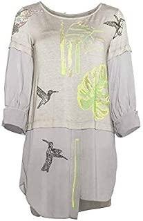 Shirt Bluse Tunika terra ELP195018116 Sommer 2019 S M L XL Elisa Cavaletti T
