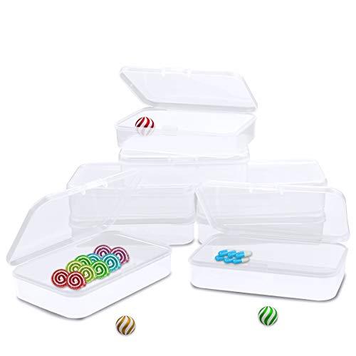 YG_Oline 8 Pcs Small Plastic Box with Lid Business Card Box Mini Storage Box Mini Plastic Box Playing Cards Storage 346 x 236 x 083
