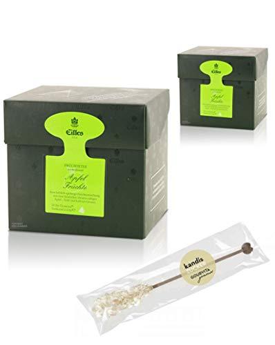 EILLES Tea Diamonds Apfelfrüchte Mega-Sparset mit 2 Boxen und gratis Kandisstick von Gourvita Moments