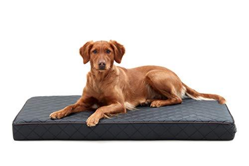 Woofery - Hundebett Hundematte Stitch - orthopädisch rutschfest XL 136 x 84 Schwarz