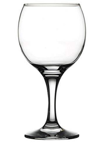 Pasabahce Bistro Serie, 6er Set Rot Elegante Weingläser, 225 ml,spülmaschinenfest und bruchbeständig