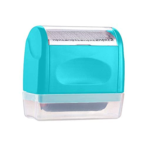 Herramientas Roller Identity Theft Protection Stamp, rodillo de protección contra robo, 10 ml, rellenable auto de tinta ancha…